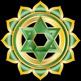 Vector Gem, Jewelry, Medallion like the Hindu Chakra of Anahata
