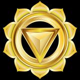 Vector Gem, Jewelry, Medallion like the Hindu Chakra of Manipura
