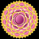 Vector Gem, Jewelry, Medallion like the Hindu Chakra of Sahasrara