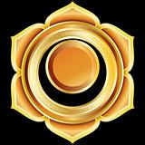 Vector Gem, Jewelry, Medallion like the Hindu Chakra of Svadhisthana