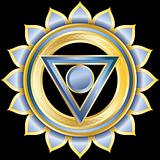 Vector Gem, Jewelry, Medallion like the Hindu Chakra of Vishuddha
