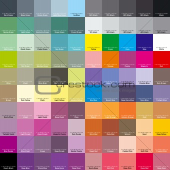 CMYK palette for artist and designer. EPS 8