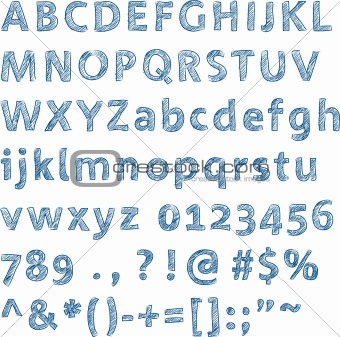 Sketched alphabet (vector)