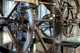 Medieval  astronomical clock in St.Vitus cathedral, Prague, Prague castle - interior - detail
