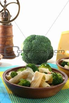 Tortiglione with broccoli