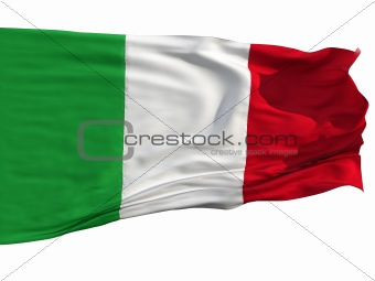 Flag of Italy, fluttered in the wind