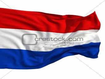 Flag of the Netherlands, fluttering in the wind