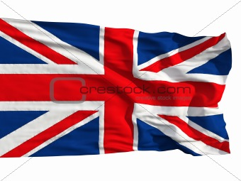 Flag of the United Kingdom, flying in the wind