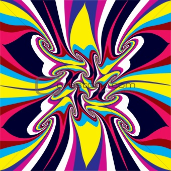 Psychedelic vector background.