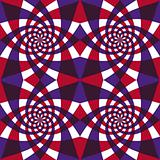 Whirly geometric seamless pattern.