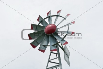 Small Windmill with Grey Sky