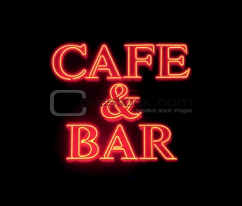 Cafe & Bar Neon Sign