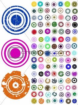 105 Vector Circle Elements