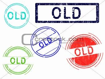 5 Grunge Stamps - OLD