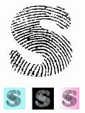 Fingerprint Alphabet Letter S