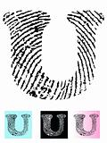 Fingerprint Alphabet Letter U