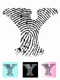 Fingerprint Alphabet Letter Y