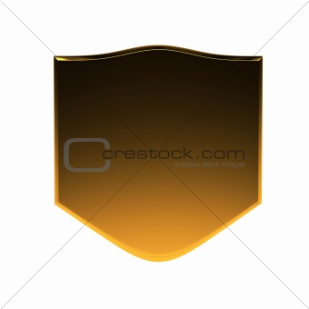 3d golden with black shield