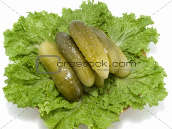 Cucumbers on a plate