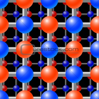 Abstract background with crystal lattice