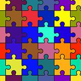 Motley abstract background with puzzle