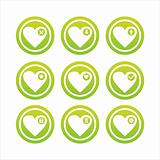 green hearts signs