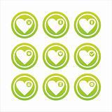 green hearts signs