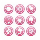 pink nature icons