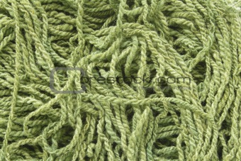 Green woolen yarn