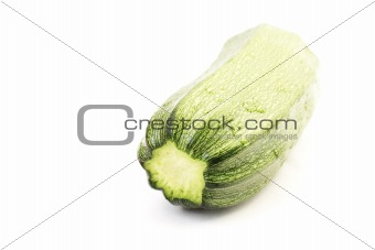 Green zucchini isolated on white