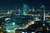 The Tel aviv skyline - Night city