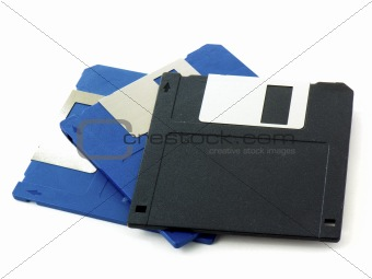 Blue & black disks