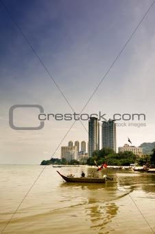 Cityscape of ship