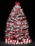 Christmas tree over the black 3d