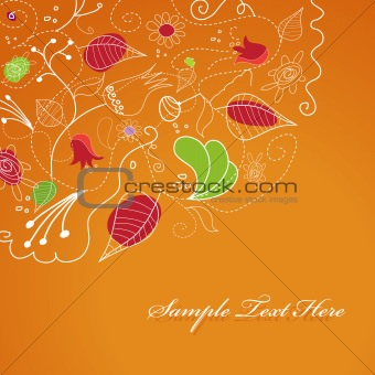 Abstract illustration with flowers.