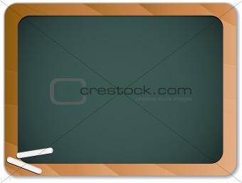 Green Chalk Blackboard with Wooden Border