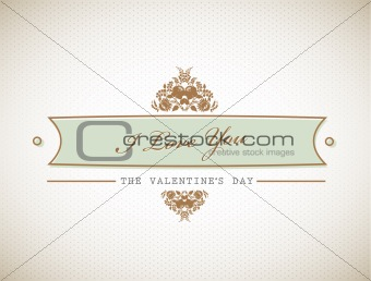 Old stylish Valentine's sign.