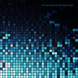 Blue vector mosaic