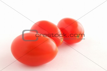 Three baby tomatoes