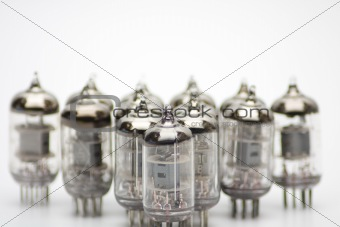 Old electronics lamps