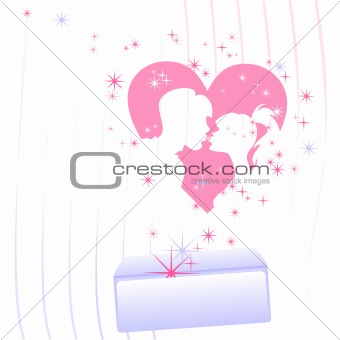 vector letter with a declaration of love