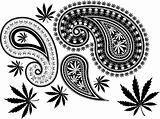 paisley cannabis and skull