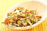 Chamomile tea and herbs flavored