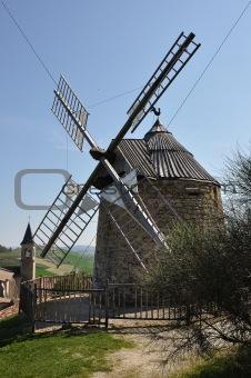 an ancient windmill