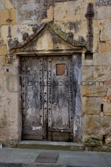 an abandoned door