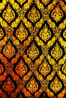 line thai pattern background