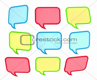 3d colored speech bubbles