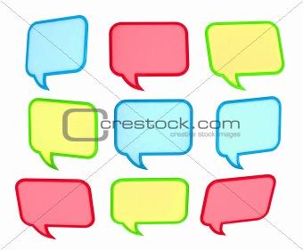 3d colored speech bubbles