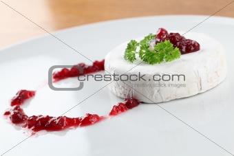 Camembert with cranberry jam