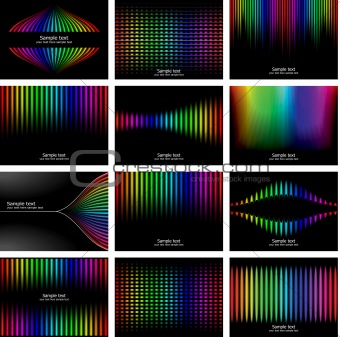 Abstract rainbow bark colour background collection